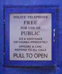 Police Call Box Telephone Door